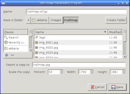 the gimp software