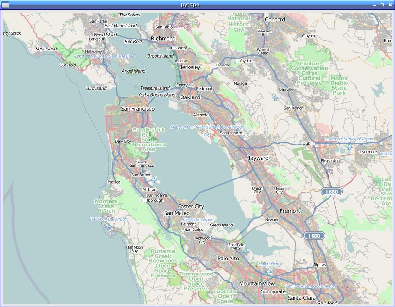San FranciscoOpenStreetMap screenshot pytopo Open Source Tiled